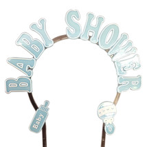 """Baby shower cake decoration blue plastic arch 9"""" x 9"""" white accent - $3.71"""