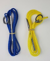 """Pair of Blue & Yellow Fishing String Ropes 68"""" length Brand new - $7.69"""