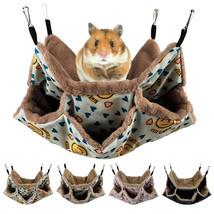 2 Layer Hamster Hammock Warm Nest Ferret Squirrel Pet Warm Hanging Nest ... - $10.84+