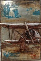 "Vintage Aviation Airplane Rustic 3D Metal Wall Art - 32"" x 48"" - $395.00"