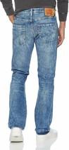 Levi's Strauss 501 Men's Original Fit Straight Leg Destroyed Distressed Jeans image 2
