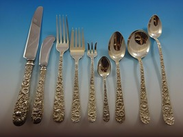 Repousse by Kirk Sterling Silver Flatware Service For 12 Set 116 Pieces - $6,950.00