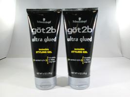 Schwarzkopf Got2B Ultra Glued Invincible Styling Gel - 6 oz (2 pack) [HB-S] - $14.39