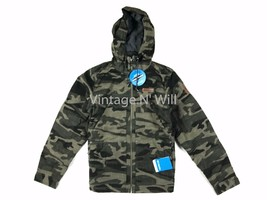 Columbia Men S Loma Vista Green Camo Fleece Lined Hooded Water Resistant... - $64.60