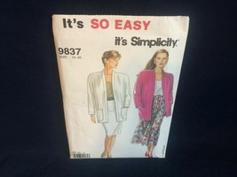 Simplicity 9837 Misses' Pleated Skirt, Slim Skirt and Unlined Jacket 10 ... - $1.24