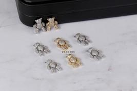 Gold Bear Nail Charms | CZ Bear | White or Yellow Gold | Arts & Crafts |... - $4.99+