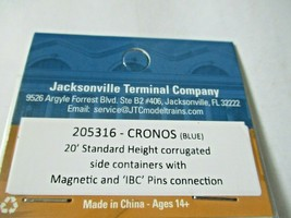 Jacksonville Terminal Company # 205316 Cronos (Blue) 20' Standard Container (N) image 2
