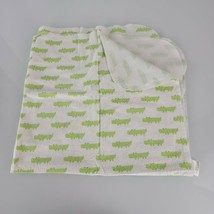 "Circo Flannel Receiving Blanket White Green Crocodile Alligator 30x30""  Cotton  - $14.84"