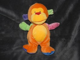 Ty Baby Funky Monkey 2005 Plush Stuffed Animal Lovey Toy Orange Yellow R... - $14.84