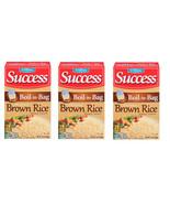 Pack Of 3 Success Boil in Bag Brown Rice, 14 oz; Exp 04/21 - $29.69