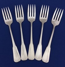 """Oneida Minute Man-Colonial Boston Satin 5 Salad Forks 6 3/4"""" Stainless F... - $19.79"""