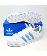 Adidas Originals SuperStar Foundation White Light Blue Gold BY3716 UNC C... - $68.16