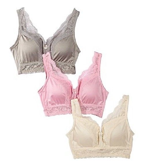 Primary image for Rhonda Shear Pin Up Girl Lacy Bra 3 pack SIZE 1X