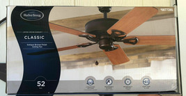 "Harbor breeze,classic 52"" antique bronze finish ceiling fan,3 mount options - $79.20"
