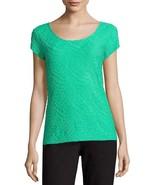 Liz Claiborne Short-Sleeve Textured Knit T-Shirt Size L, XL New Lindsay ... - $14.99