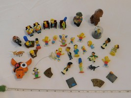 The Simpsons & a few misc Lot of 40 Mini Figurines Toy good condition Pr... - $26.72