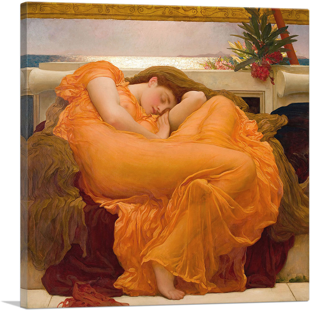 Primary image for ARTCANVAS Flaming June 1895 Canvas Art Print by Frederic Leighton