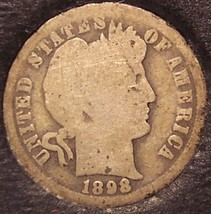 1898-O Silver Barber Dime Low Mintage #0514 - $11.19