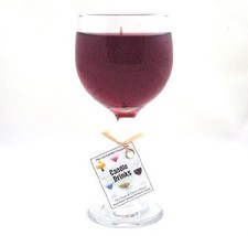 Merlot Scented Wine Gel Candle in Glass 100+ Hours Made In USA - €17,25 EUR