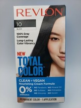 Revlon Total Color Hair Color, Clean and Vegan, 100% Gray Coverage - 10 BLACK - $8.90