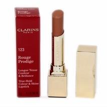 Clarins Rouge Prodige TRUE-HOLD Colour & Shine Lipstick 3G #123 NIB-442031 - $24.26