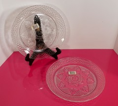 Cristal d'Arques Luminarc Clear ANTIQUE Pattern Dinner Plate (s) LOT OF 2 - $24.70