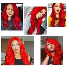 Goodly Red Lace Front Wigs for Women Fashion Glueless Long Wavy Wigs Lace Front  image 6