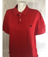 American Egale Men Red Button Up Shirt Short Sleeve Athletic Fit Size XL - $16.82