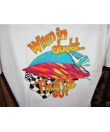 """ When in Doubt Throttle Out ""  Offshore Powerboat Racing T-Shirt Xtra L... - $19.50"