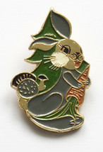 RUSSIAN BUNNY Rabbit Hare with carrot Badge Kid Child Soviet Children Pin - $5.85