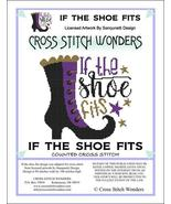 If The Shoe Fits halloween cross stitch chart Cross Stitch Wonders - $5.00