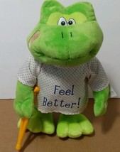 Petting Zoo Frog Feel Better Dancing/singing Get Well Soon Plush Stuffed... - $37.23