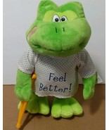 Petting Zoo Frog Feel Better Dancing/singing Get Well Soon Plush Stuffed... - $37.23