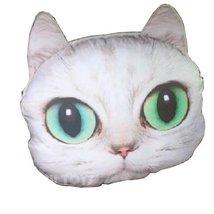 PANDA SUPERSTORE Cute Cartoon (Lovely Cat) Car Headrest/Car Neck Pillow,White