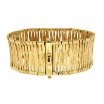 "Roberto Coin 63 Gram 18K Yellow Gold Ruby Elephant Skin Bracelet Size 7""... - $4,322.43"
