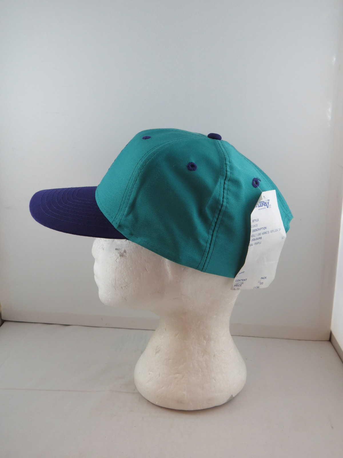 Charlotte Hornets Hat (VTG) - Two Tone by Midway - Adult Snapback - New With Tag