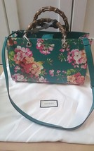 GUCCI GG Blooms Hand Shoulder Bamboo Bag Green Floral Flower Auth New Un... - $2,916.51 CAD