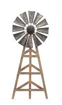 Wood And Metal Windmill Wall Decor, Brown And Gray - $59.02