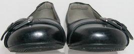 round 39 Ecco 8 5 buckle black slip 'Bouillon' EU 8 leather wedge toe on txZqwB6Ox