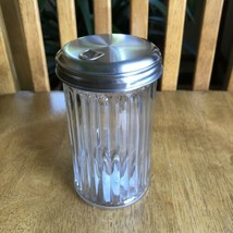 Anchor Hocking Restaurant Style Sugar Shaker Ribbed Glass Dispenser Nwt - $9.90
