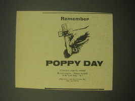1966 Poppy Day Ad - Remember Poppy Day - $14.99