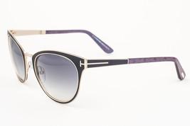 Tom Ford Nina Black Gold / Gray Gradient Sunglasses TF373 01B - $155.82
