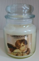 "Discontinued Yankee Candle ""SPARKLING ANGEL"" Medium 14.5 oz ~ RARE~ NEVE... - $44.55"