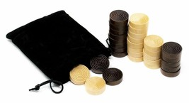 1 inch Wood Backgammon or Checkers pieces - 30 pieces with Bag - $9.40