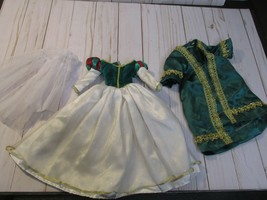 "D3 Disney Princess Snow White 18"" Porcelain Doll Replacement green Dress... - $19.79"