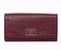 New Fossil Dawson Women Flap Leather Clutch Variety Color - $76.99