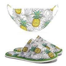 Chochili Men Trendy Pineapple Home Garage Kitchen Dorm Slippers and Mask... - $10.99
