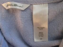Womens Fleece Sweater Medium Eddie Bauer Lavender TF153/ALS - $10.93