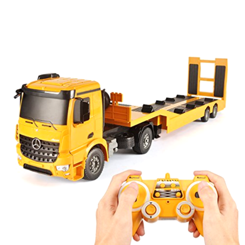 Remote Control RC Truck Flatbed Semi Trailer Kid Electronics Hobby Toys for Kids