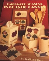 Patchwork Seasons In Plastic Canvas Leisure Arts Leaflet 1203 Coaster Tissue Box - $13.69